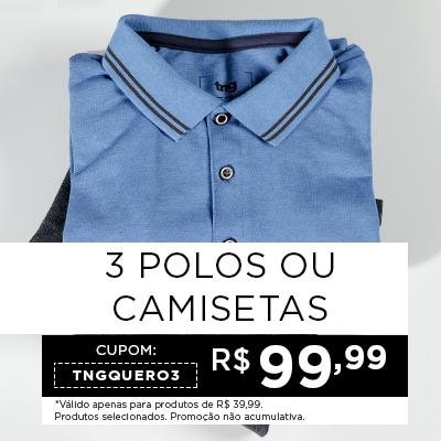 3 Polos ou Camisetas