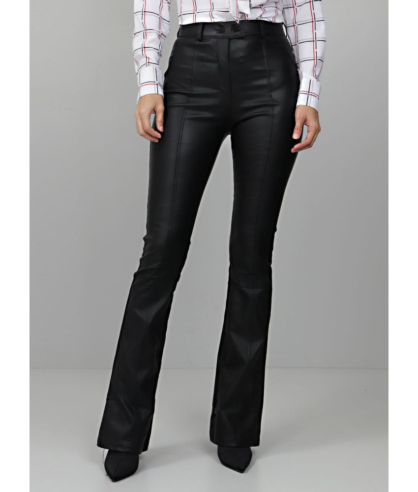405f812a37 CALÇA FEMININA LEATHER FLARE